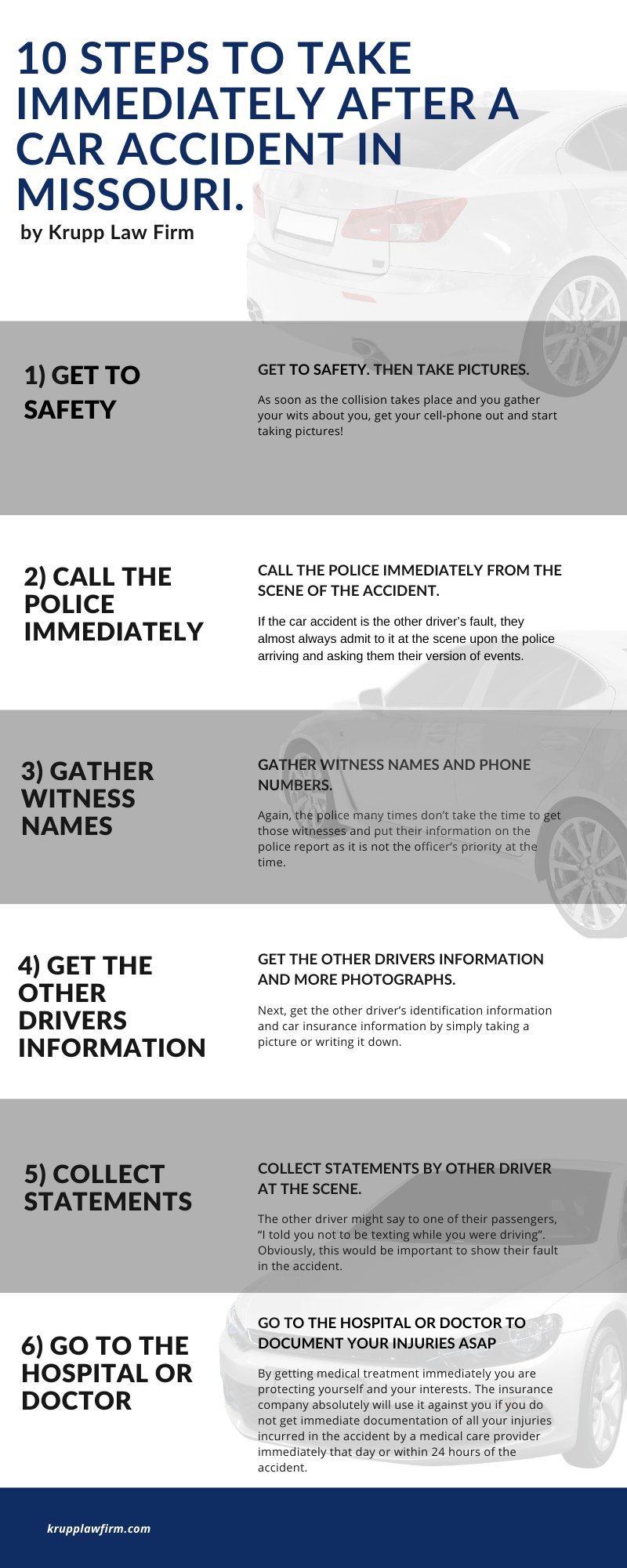 ten steps to take after a car accident infographic 1