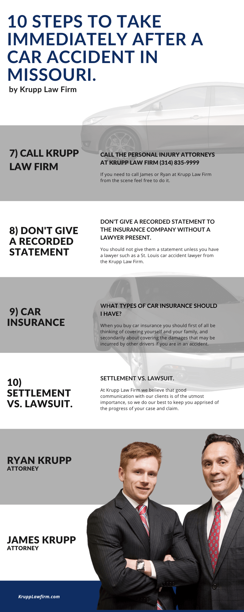 ten steps to take after a car accident infographic 2