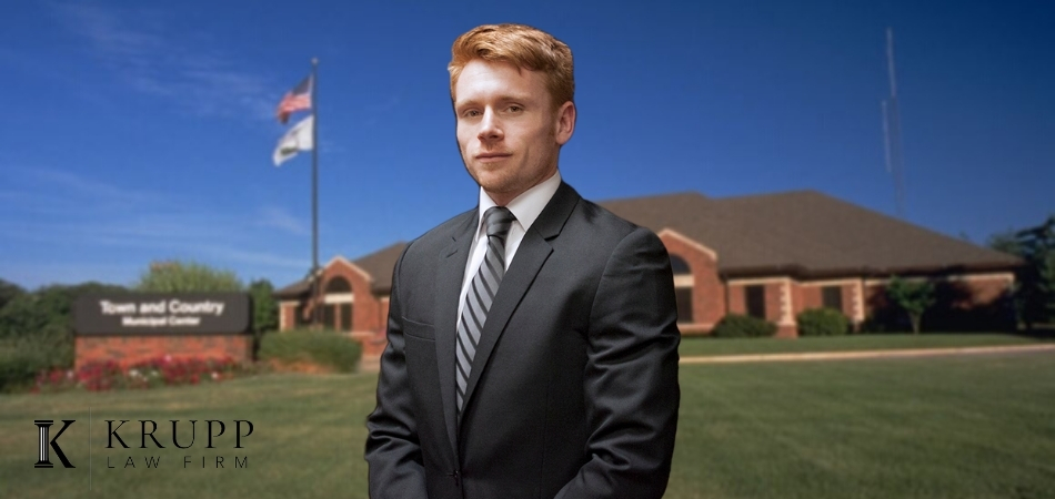 Ryan Krupp in front of Town and Country Municipal Court