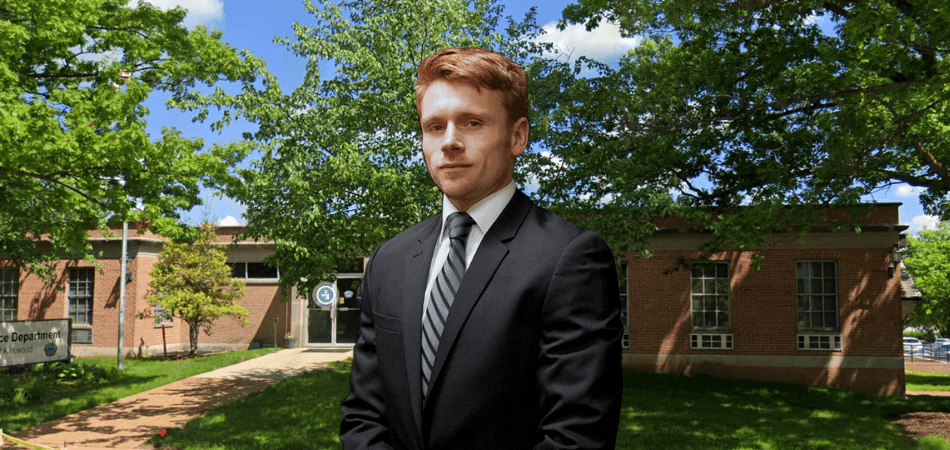 Ryan Krupp in front of Kirkwood municipal court