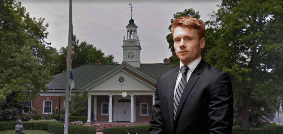 Ryan Krupp in front of Ladue City Hall